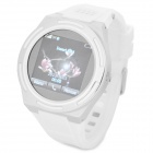 "KICCY A8 Water Resistant Bluetooth Smart Watch Phone w/ 1.54"", FM for Android, iOS - Silver + White"