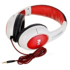 OVLENG A4 Stylish Stereo Headphones w/ Microphone for Iphone - White + Red + Black