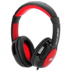 OVLENG A4 Stylish Stereo Headphones w/ Microphone for Iphone - Black + Red (3.5mm Plug / 1.4m)