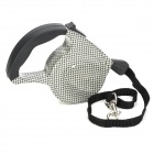 Retractable Pet Dog Strap Leash w/ Control Button - Black + White (4.5m)