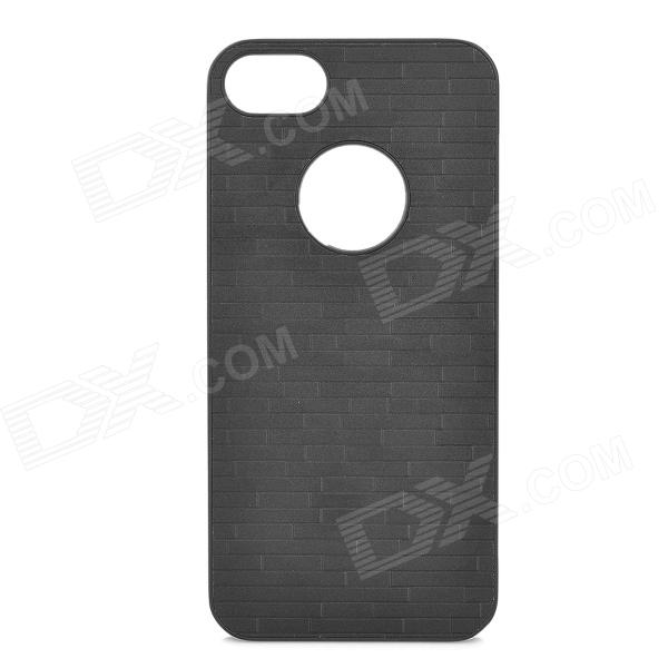 Neomemos Stylish Simple Protective Plastic Back Case + Screen Film Set for Iphone 5 - Black neomemos stylish maze pattern protective aluminum alloy back case for iphone 4s 4 silver