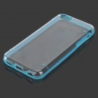 Protective Plastic Back Case for Iphone 5C - Translucent Blue + Transparent