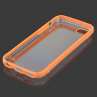 Protective TPU Back Case for Iphone 5C - Light Orange + Transparent