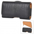 Horizontal Type Protective PU Leather Case Cover w/ Clip for Iphone 4 / 4S - Black