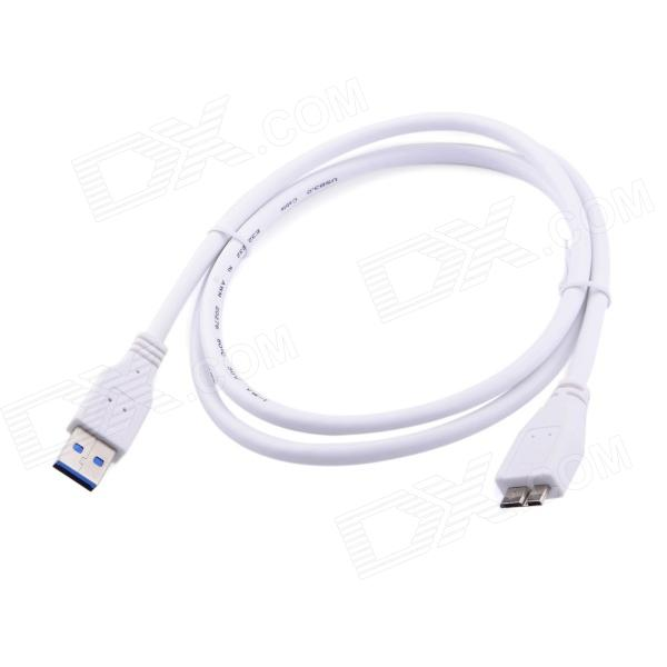 USB 3.0 A Male to Micro B Male Connection Cable - White (100cm) high quality spiral coiled usb 2 0 a male to micro usb b 5pin adaptor spring cable best price