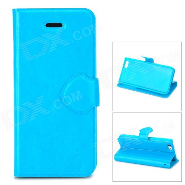 Protective Flip-open PU Leather + Plastic Case for Iphone 5C - Blue protective plastic case for iphone 5c blue