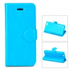 Protective Flip-open PU Leather + Plastic Case for Iphone 5C - Blue