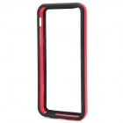 Stylish Plastic + Silicone Bumper Frame Case for Iphone 5C - Deep Pink + Black