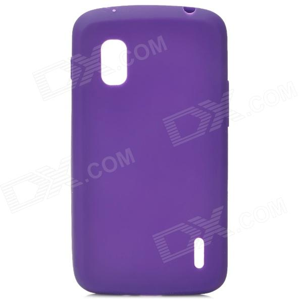 Protective Silicone Back Case for LG Nexus 4 E960 - Purple protective silicone back case for lg nexus 4 e960 purple