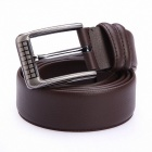 Fashionable Cow Split Leather Men's Belt - Brown