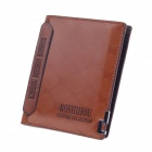 Boshihou 9805-2 # modernes hochwertiges Cow Split Leder Folding Männer Wallet - Brown