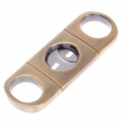 Unique Stainless Steel Cigar Cutter Knife - Bronze + Silver