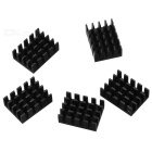 Jtron 1.9 x 1.4 x 0.6cm Aluminum Power Supply Module Heat Sink - Black (5 PCS)