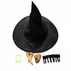 Bruja de Halloween Cosplay Set Suit - Negro