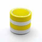Portable Speaker Supper Bass Bluetooth V2.1+EDR Speaker w/ TF / FM / Microphone - White + Yellow