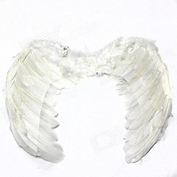 Halloween Kid Cosplay Fallen Angel Wings - White (Size S) fallen fallen cobra hood fleece black white skulls
