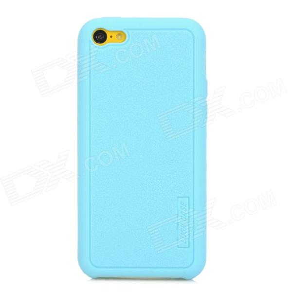 LUCK CASE 06 Stylish Protective Silicone Back Case for Iphone 5C - Sky Blue luck case 04 stylish protective silicone back case for iphone 5c deep pink