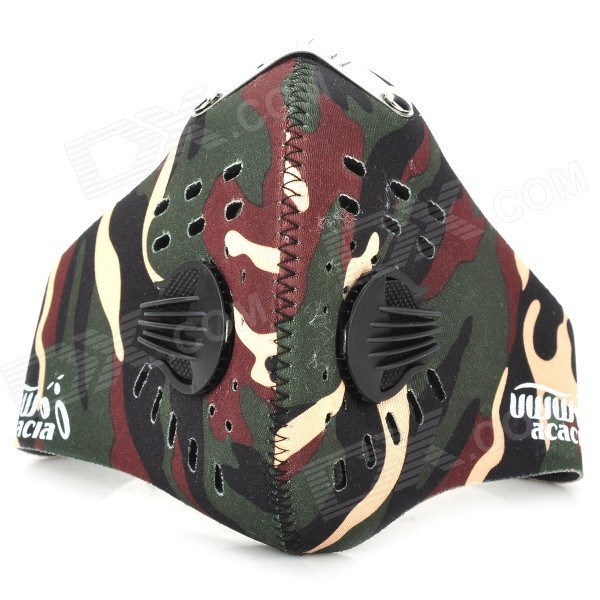 acacia 060107 Bicycle Riding Dustproof Half Face Mask - Camouflage