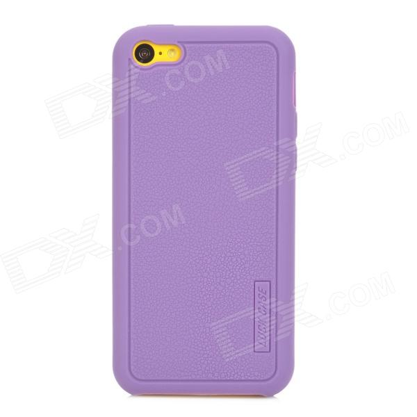 LUCK CASE 05 Stylish Protective Silicone Back Case for Iphone 5C - Purple luck case 04 stylish protective silicone back case for iphone 5c deep pink
