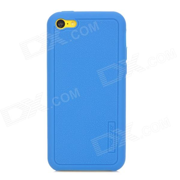 LUCK CASE 03 Stylish Protective Silicone Back Case for Iphone 5C - Blue luck case 04 stylish protective silicone back case for iphone 5c deep pink