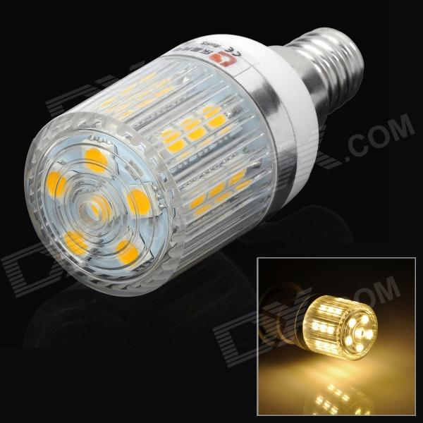 LeXing LX-YMD-058 E14 3W 200lm 3500K 27-5050 SMD LED Warm White Corn Lamp (220~240V) lexing lx qp 20 e14 6w 470lm 3500k 15 5730 smd led warm white light dimmable lamp ac 220 240v