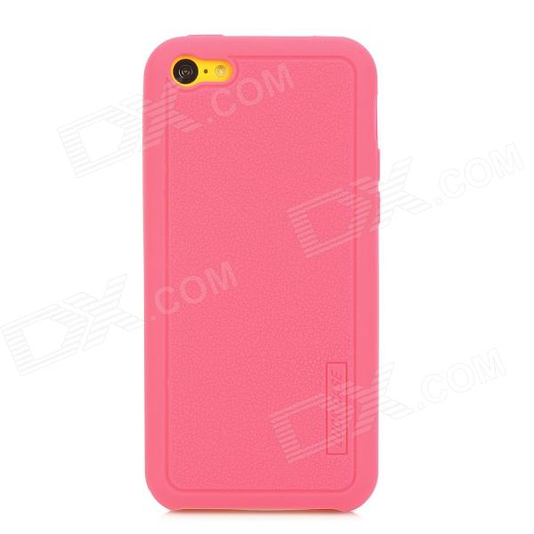 LUCK CASE 04 Stylish Protective Silicone Back Case for Iphone 5C - Deep Pink luck case 04 stylish protective silicone back case for iphone 5c deep pink