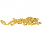 3D Lifelike Dragon Style Zinc Alloy Car Sticker - Golden