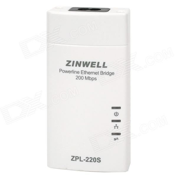 ZPL-220S Powerline Ethernet Bridge - White