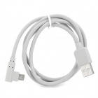 USB 2.0 Male to Micro USB Right Angle Data Charging Cable for Samsung / Xiaomi - Light Grey (1m)