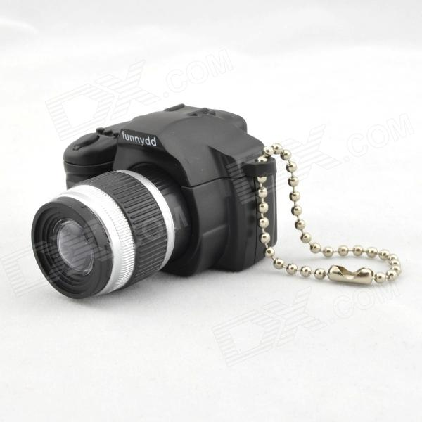 SLR Camera Design LED Keychain w/ Sound Effect - Black + Silver + Gray (3 x AG10) sport car style 2 led white light flashlight keychain w sound effect red 4 x lr41