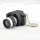 SLR Camera Design LED Keychain w/ Sound Effect - Black + Silver + Gray (3 x AG10)
