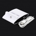 USB Charging Dock + Battery Charger w/ USB Data Cable for Samsung Galaxy S3 / i9300 - White + Black