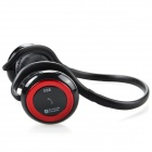 HS E68 Sport TF Player + Bluetooth Stereo Headset - Blue + Red (15-Hour Talk / 200-Hour Standby)