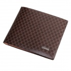 PIDENGBAO Stylish Cow Split Leather + PU Leather Men's Wallet - Brown