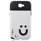 Smiling Face Protective Silicone Soft Case for Samsung GALAXY N7100 - White + Black
