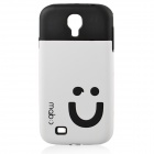 Smiling Face Protective Silicone Soft Case for Samsung GALAXY i9500 / S4 - White + Black
