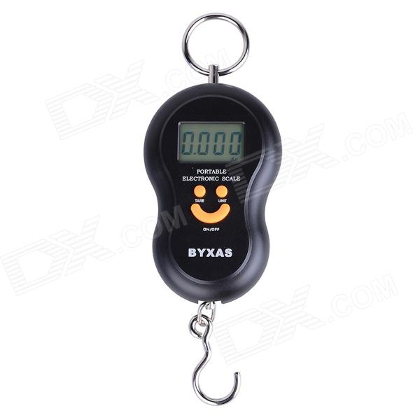 BYXAS CZA-101 Digital Portable Digital Scale - Black (40kg/10g / 2 x AAA) compact portable 2 0 lcd digital personal body weight scale 2 aaa 0 3 150kg