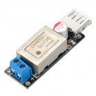 DC-DC 6V~24V to 5V 3A Step-Down Module USB Car Charger Module - Black