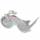 Decorative UV400 Motorcycle Style Glasses - Silver
