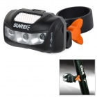 SUNREE B-Sports Plastic 2-Mode 3-LED Red Light Bike Tail Lamp w/ Clip - Black + Grey (2 x AAA)