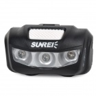 SUNREE B-Sports muovi 2-Mode 3-LED Red Light Pyörän takavalon w / Clip-musta + harmaa (2 x AAA)