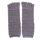 Fashionable Men's Wool Toe Socks - Grey + Black + White (Pair)