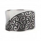 Fashionable Stainless Steel Ring for Women - Silver (US Size 7.5)