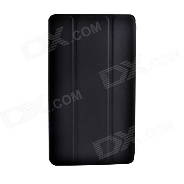 Protective 3-Fold PU Leather Case w/ Stand for Asus Google Nexus 7 II - Black рюкзак case logic 17 3 prevailer black prev217blk mid