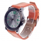 Daybird 3788 Men's Analog Quartz Wrist Watch w/ Simple Calendar - Orange + Black + Silver (1x LR626)