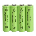 "BTY Rechargeable 1.2V ""3800mAh"" Ni-MH AA Batteries Set - Light Green + Black (4 PCS)"
