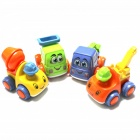 Engineering Vehicle Inertial Toy Cars - Multicolored (4 PCS)