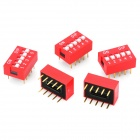 YS4 DIY 5-Digit Toggle Switches - Red + White (5 PCS)