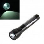 HQ-L01 Solar Powered Self-Recharge LED 38lm White Light Flashlight - Black