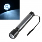 HQ-L07 Solar Powered Self-Recharge 7-LED 40lm White Light Flashlight - Black